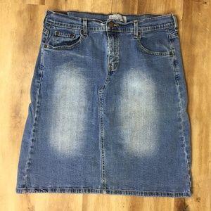 Levi's Denim Skirt Distressed 14